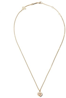 Chopard 18kt yellow gold Happy Diamonds Icons pendant necklace