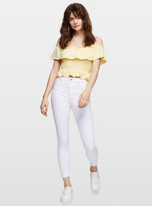 Miss Selfridge LIZZIE White Eco High Waist Skinny Jeans