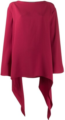 Alberta Ferretti curved oversized top