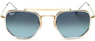 Ray-Ban Unisex Brow Bar Aviator Sunglasses, 52mm