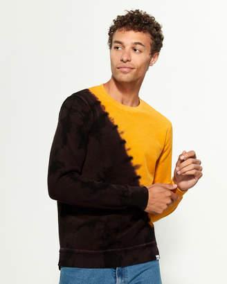 PRPS Color Block Tie Dye Long Sleeve Sweatshirt