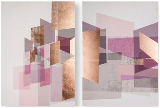 Graham & Brown Rose Gold Geos Canvas Wall Art