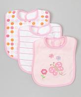SpaSilk Pink Butterfly Bib Set