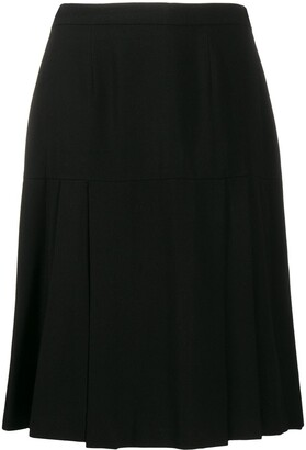 Chanel Pre Owned Pleated Knee-Length Skirt