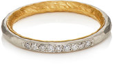 Malcolm Betts Women's White Diamond Thin Band