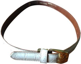 Pierre Cardin White Leather Belts