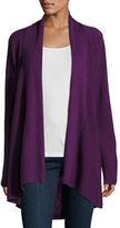 Eileen Fisher Long-Sleeve Merino Stitched Cardigan, Plus Size