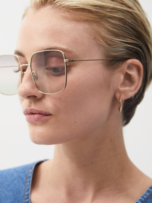 Thumbnail for your product : Christian Dior Diorstellaire Square Metal Sunglasses - Pink