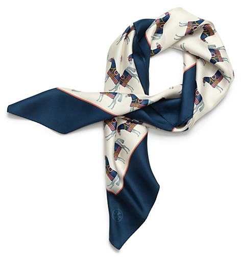 Tory Burch Horse Print Square Scarf