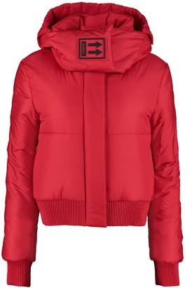 Off-White Off White Full Zip Padded Hooded Jacket
