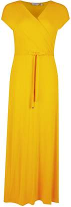 Dorothy Perkins Womens Petite Yellow Maxi Dress