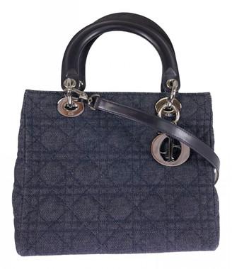 Christian Dior Lady Navy Denim - Jeans Handbags