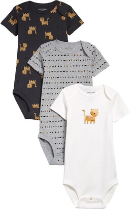 Petit Lem 3-Pack Tiger Print Bodysuits