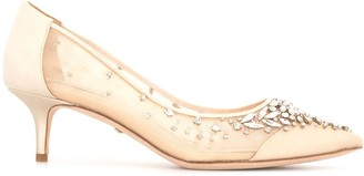 Badgley Mischka Onyx crystal-embellished pumps