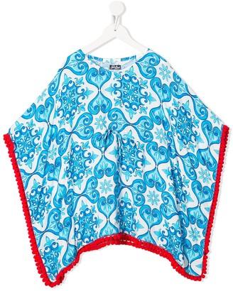 Kate geometric print poncho dress