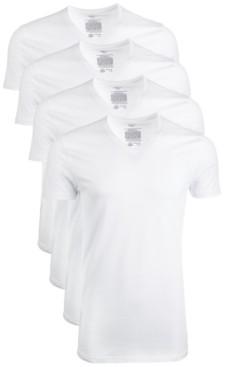 Alfani AlfaTech by Men's 4-Pk. Mesh V-Neck Undershirts, Created for Macy's