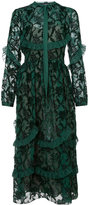 Rochas embroidered shirt dress - women - Silk - 40