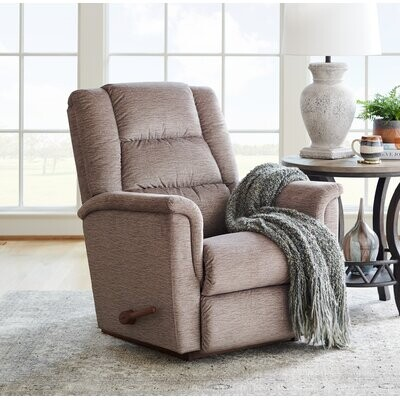 """Thumbnail for your product : La-Z-Boy Murray 35.5"""" Wide Manual Rocker Standard Recliner Upholstery Color: Fossil, Reclining Type: Manual, Motion Type: Rocker"""
