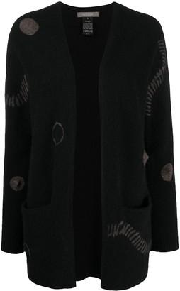 Suzusan Intarsia Knit V-Neck Cardigan