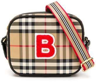 Burberry checked logo shoulder bag