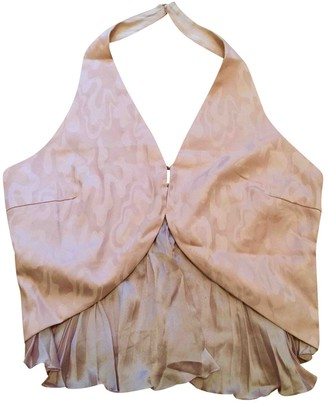 Genny Pink Silk Top for Women