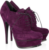 Yves Saint Laurent Suede brogue ankle boots