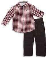 Calvin Klein Boys 2-7 Plaid Sportshirt and Jeans Set