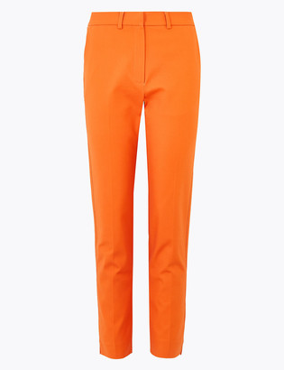 Marks and Spencer Cotton Slim Fit Ankle Grazer Trousers