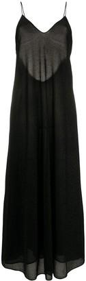 Oseree Lurex Knit Slip Dress