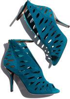 Jimmy Choo Tamera V-Neck Cutout Ankle-Wrap Sandal, Blue