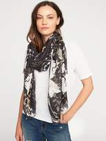 Old Navy Lightweight Printed Scarf for Women