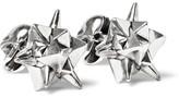 Alexander McQueen Stud and Skull Silver-Tone Cufflinks