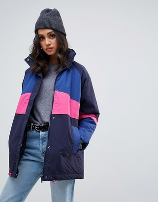 Asos Design DESIGN padded anorak jacket-Multi