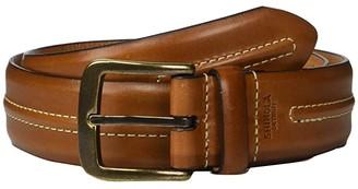 Shinola Detroit 1 1/2 Double Center Stripe Belt Veggie Tan MS (Bourbon) Men's Belts