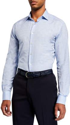 Etro Men's Tile Jacquard Cotton Sport Shirt