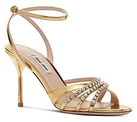 Miu Miu Women's Crystal Embellished High-Heel Sandals