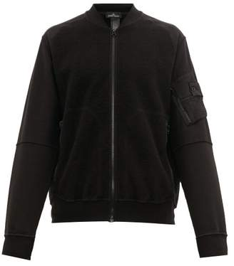 Stone Island Shadow Project - Fleece Panelled Cotton Bomber Jacket - Mens - Black