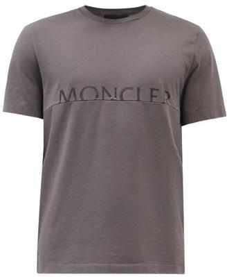 Moncler Split-logo Cotton-jersey T-shirt - Dark Grey