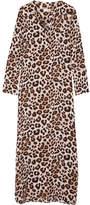 Equipment Niko Leopard-print Washed-silk Maxi Dress - Leopard print