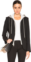 Veronica Beard Classic Blazer with Hoodie Dickey in Black.
