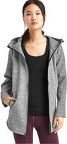 Gap Double-knit zip cape hoodie