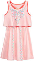 Epic Threads Geo-Print Popover Dress, Big Girls, Created for Macy's