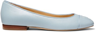 Michael Kors Dylyn Leather Ballet Flats