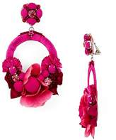 Ranjana Khan Rose Petal Hoop Clip-On Earrings