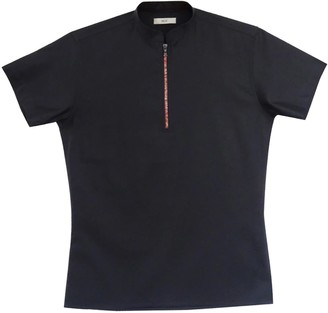 Short Sleeve Cotton Polo Shirt With Red Zipper
