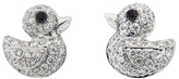 Pippo Perez Diamond Duck Studs - White Gold