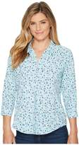 Royal Robbins Expedition Chill Print 3/4 Sleeve Top Women's Long Sleeve Button Up