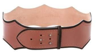 Alaia Wide Leather Waist Belt