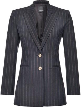 Pinko Pinstripe Fitted Blazer Jacket