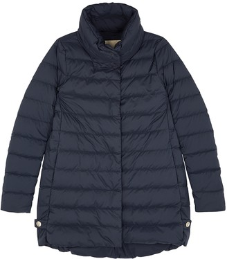 Herno Navy Quilted Shell Coat